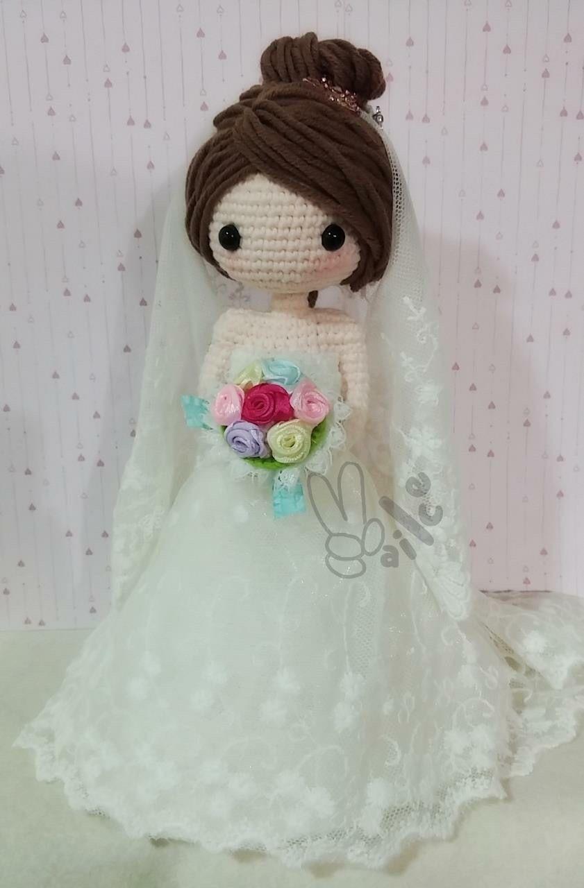 Amigurumi bride doll. (Inspiration). CASAMENTO ...
