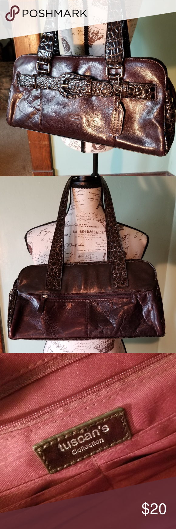Vtg Tuscan S Collection Leather Purse