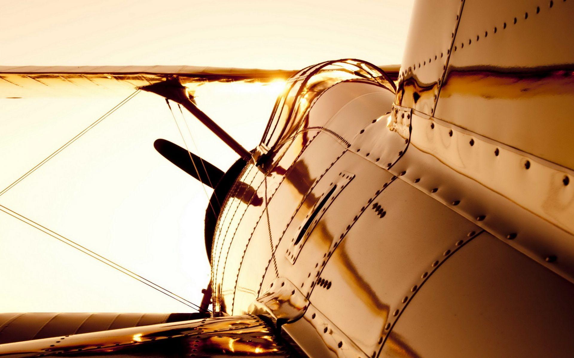 Old Plane Aircraft Airplane Wallpaper Glass Wall Art