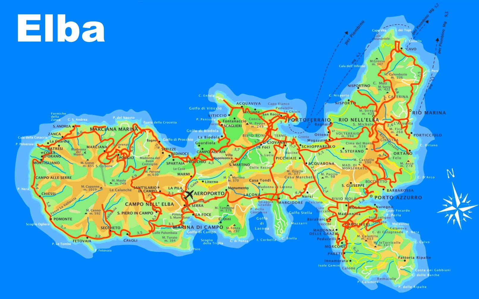 Elba tourist map elba Pinterest Tourist map Elba and Italy