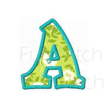 Kiddy applique font letters machine embroidery designs EM12-10038 by FunStitch on Etsy (null)