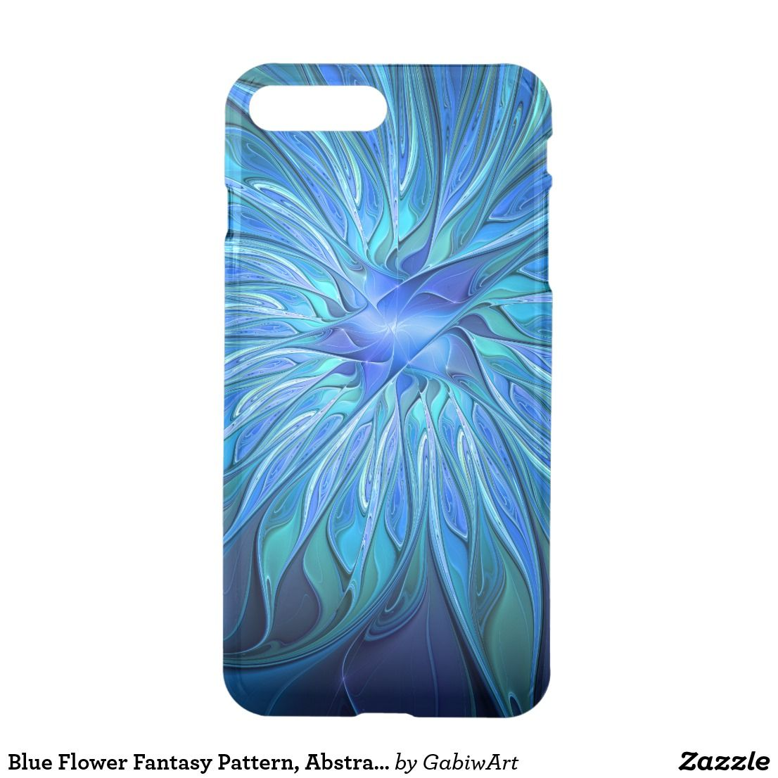 Blue flower fantasy pattern abstract fractal art iphone 8 plus7 blue flower fantasy pattern abstract fractal art iphone 8 plus7 plus case izmirmasajfo