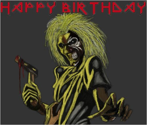 Eddie From Iron Maiden Happy Birthday Photo Iron Maiden