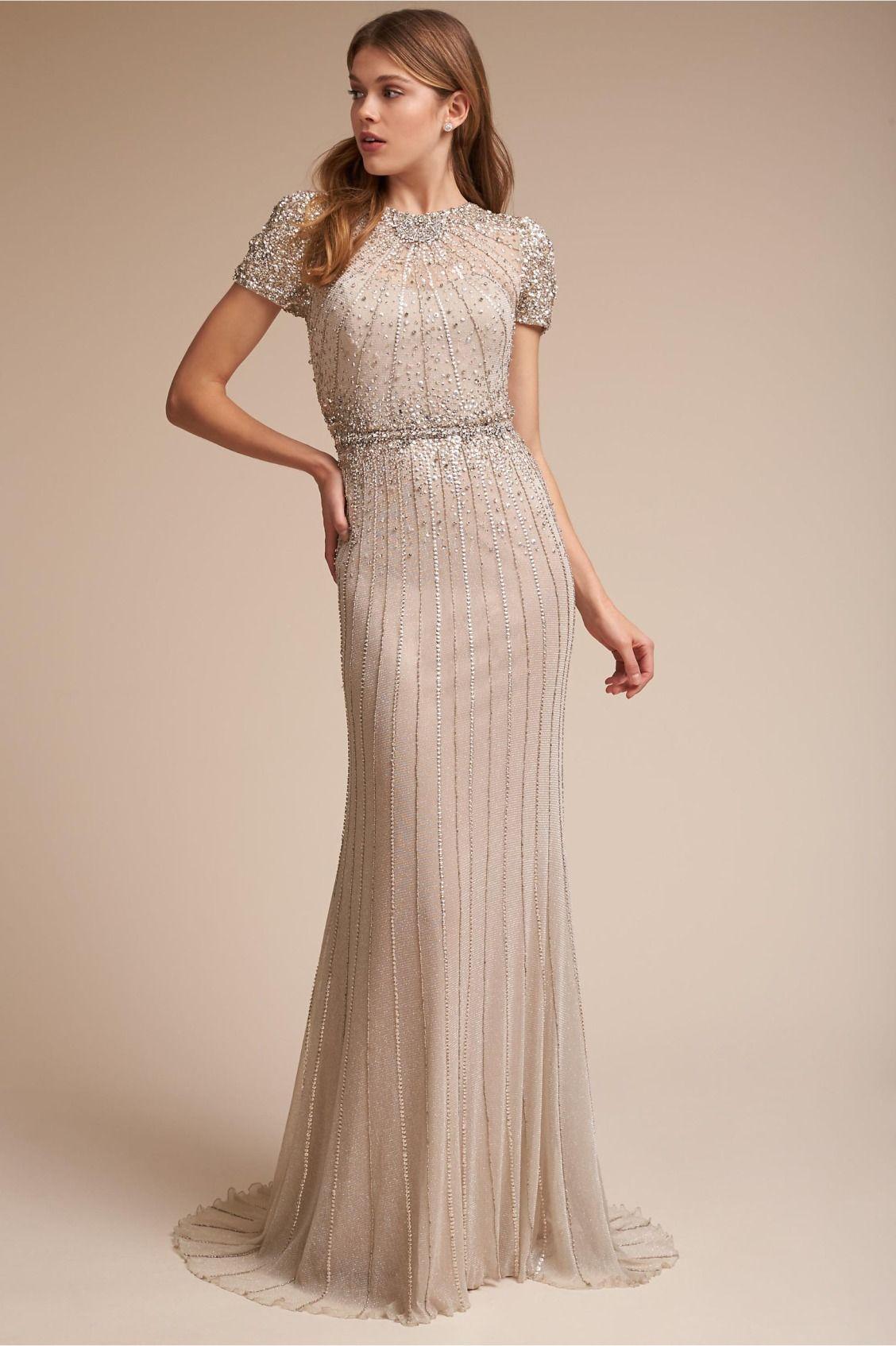 Glamorous Column Dress Barton Gown From Bhldn Wedding Dress Sizes Casual Wedding Dress Vintage Inspired Wedding Dresses [ 1694 x 1128 Pixel ]
