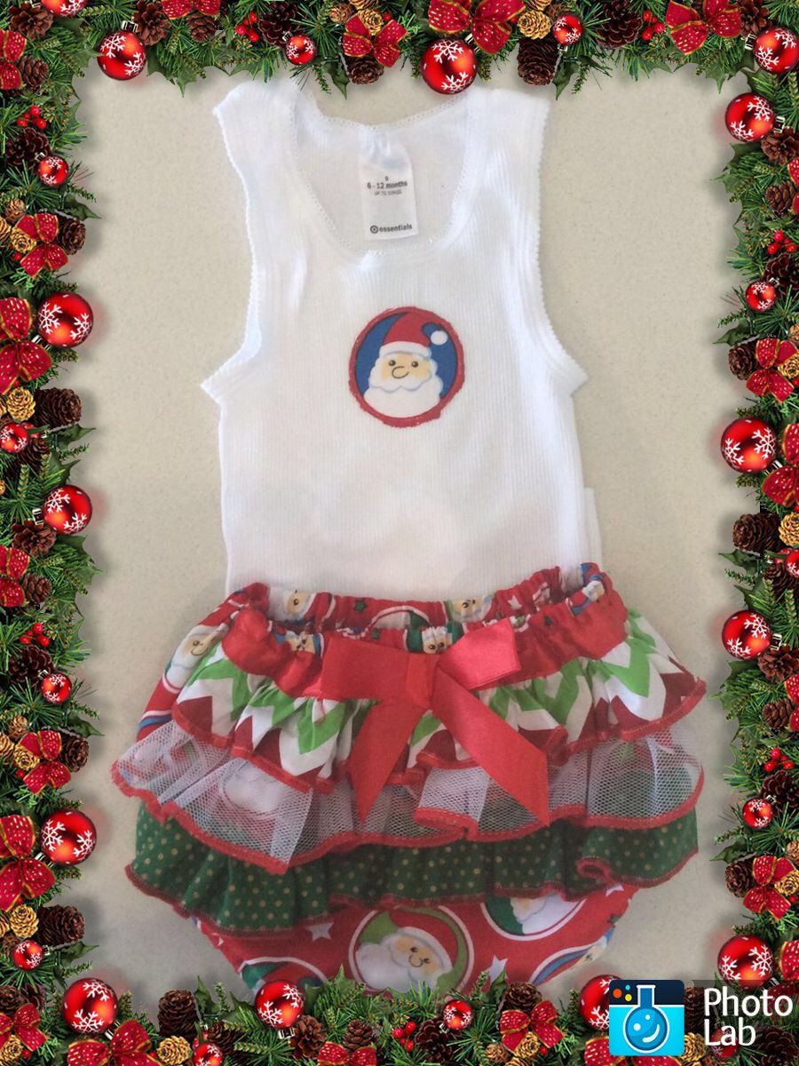 Colour me Christmas Ruffled Bum Diaper Set Size 6-12 moths by Ozbods on Etsy