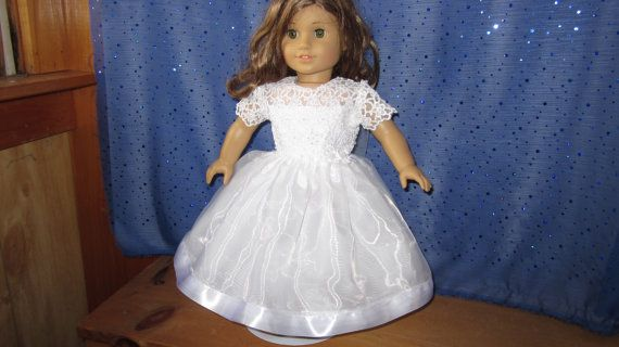 Beaded communion dress for your American Girl or by catsmeow1