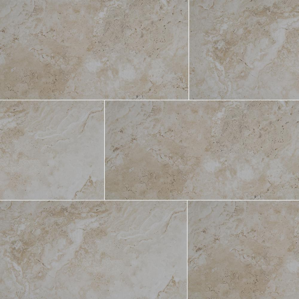 Msi Romagna Almond 12 In X 24 In Glazed Porcelain Floor And Wall Tile 16 Sq Ft Case Nhdromalm1224 The In 2020 Porcelain Flooring Wall Tiles Floor And Wall Tile
