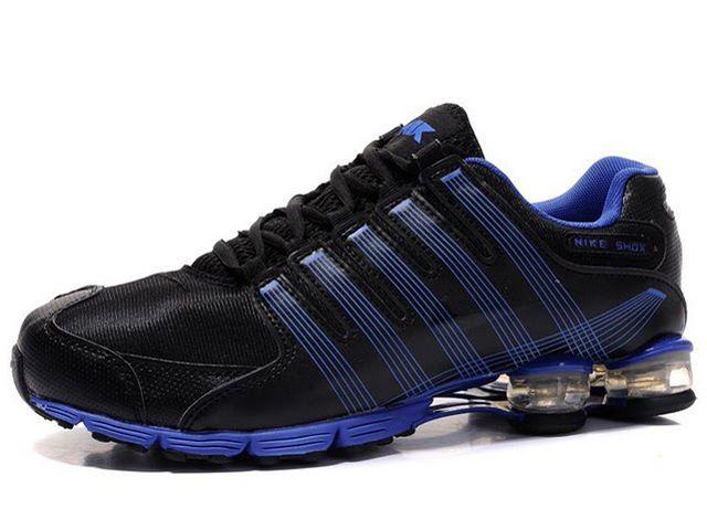 super cute 68801 ab34d Chaussures Nike Shox R4 Noir  Bleu  nike 12279  - €46.96   Nike Chaussure  Pas Cher,Nike Blazer and Timerland www.facebook.com ... www.topchausmall.