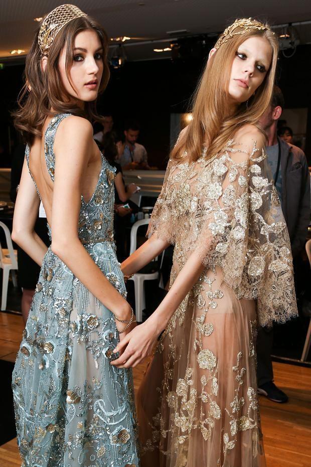 Backstage  Elie Saab Haute Couture Fall 2015 Backstage