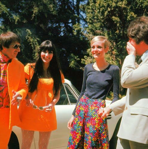 Sonny and Cher with Twiggy  1960's