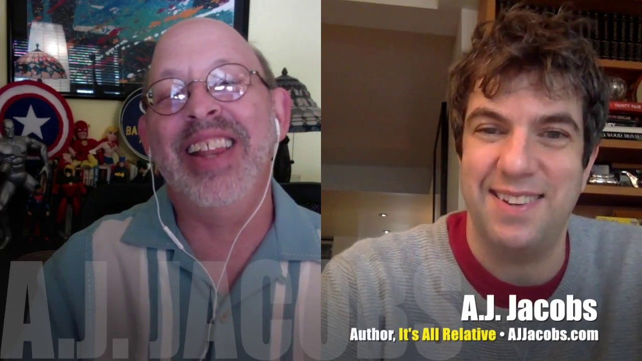 It\'s All Relative with our cousin, A.J. Jacobs! INTERVIEW | Mr ...
