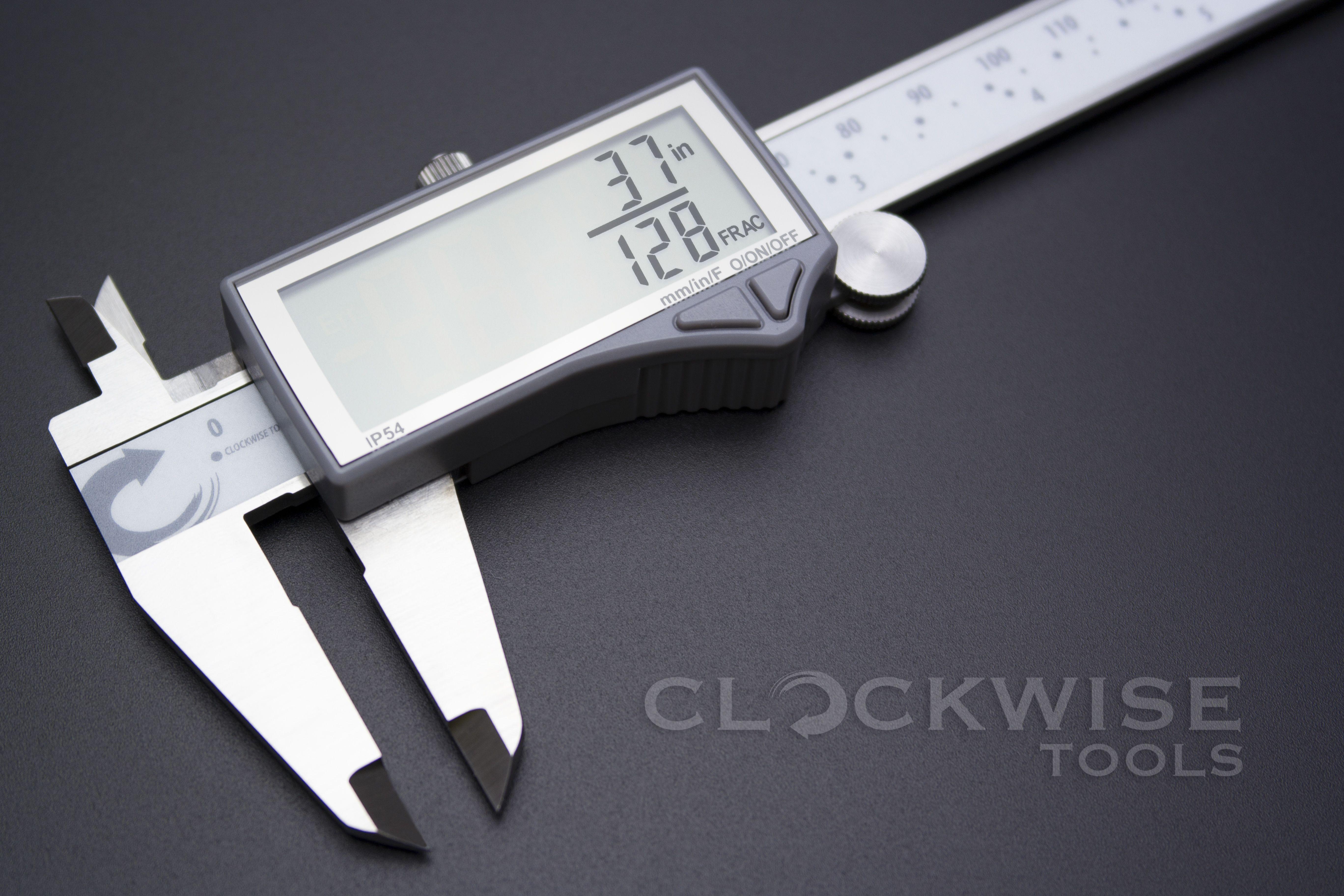 Clockwise Tools DCLR-0605 Electronic Digital Caliper Inch//Metric//Fractions Conve
