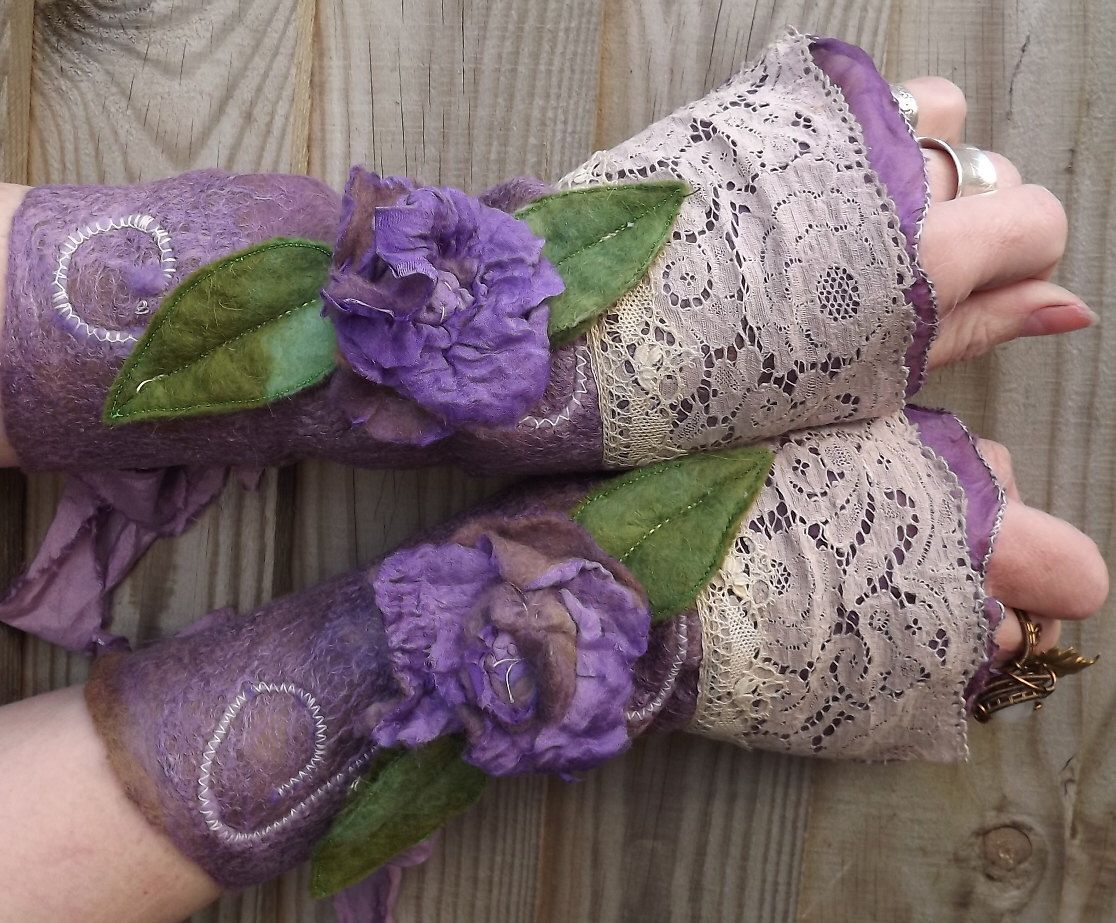 mauve rose cuffs -Fairytale cuffs- - Folkowl Cuffs -Spring rose cuffs -  Vintage lace cuffs - steampunk faerie cuffs by folkowl on Etsy https://www.etsy.com/listing/231440956/mauve-rose-cuffs-fairytale-cuffs-folkowl