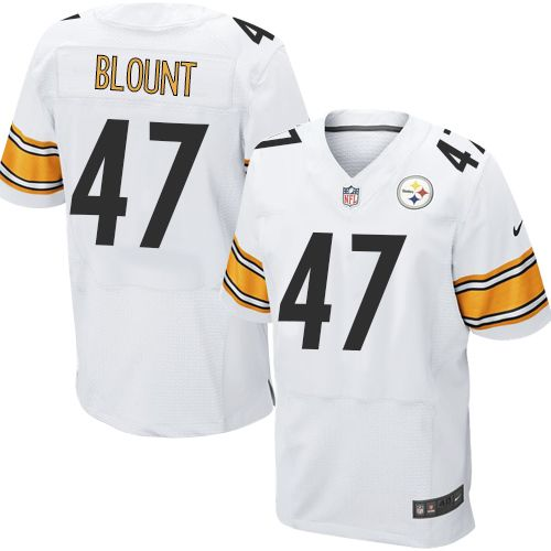 nike elite mel blount white mens jersey pittsburgh steelers 47 nfl road