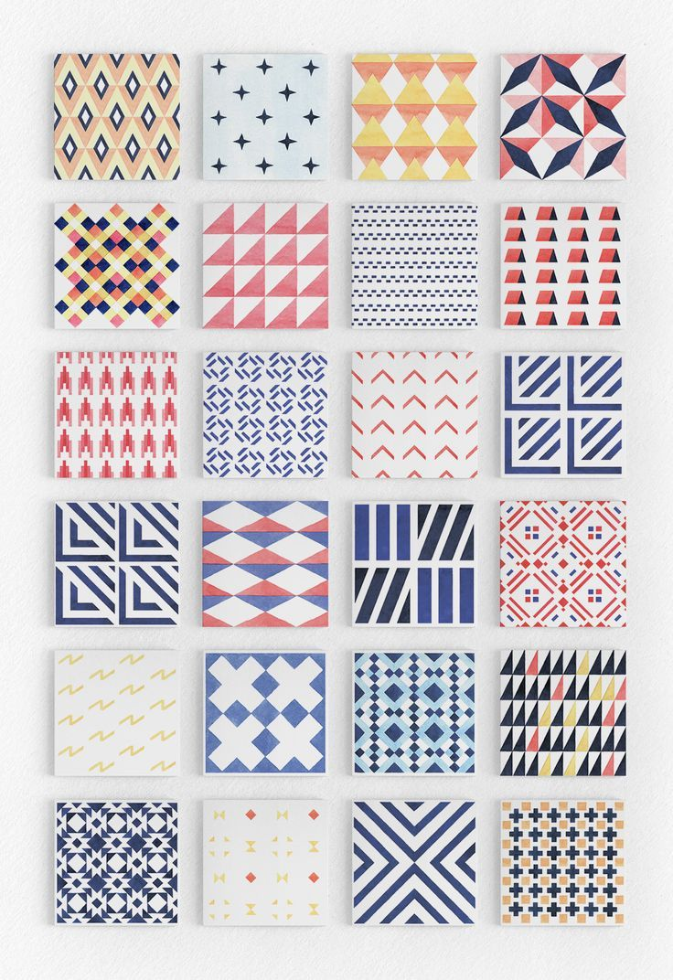 Geometry Watercolor Vector Patterns - Patterns - 2