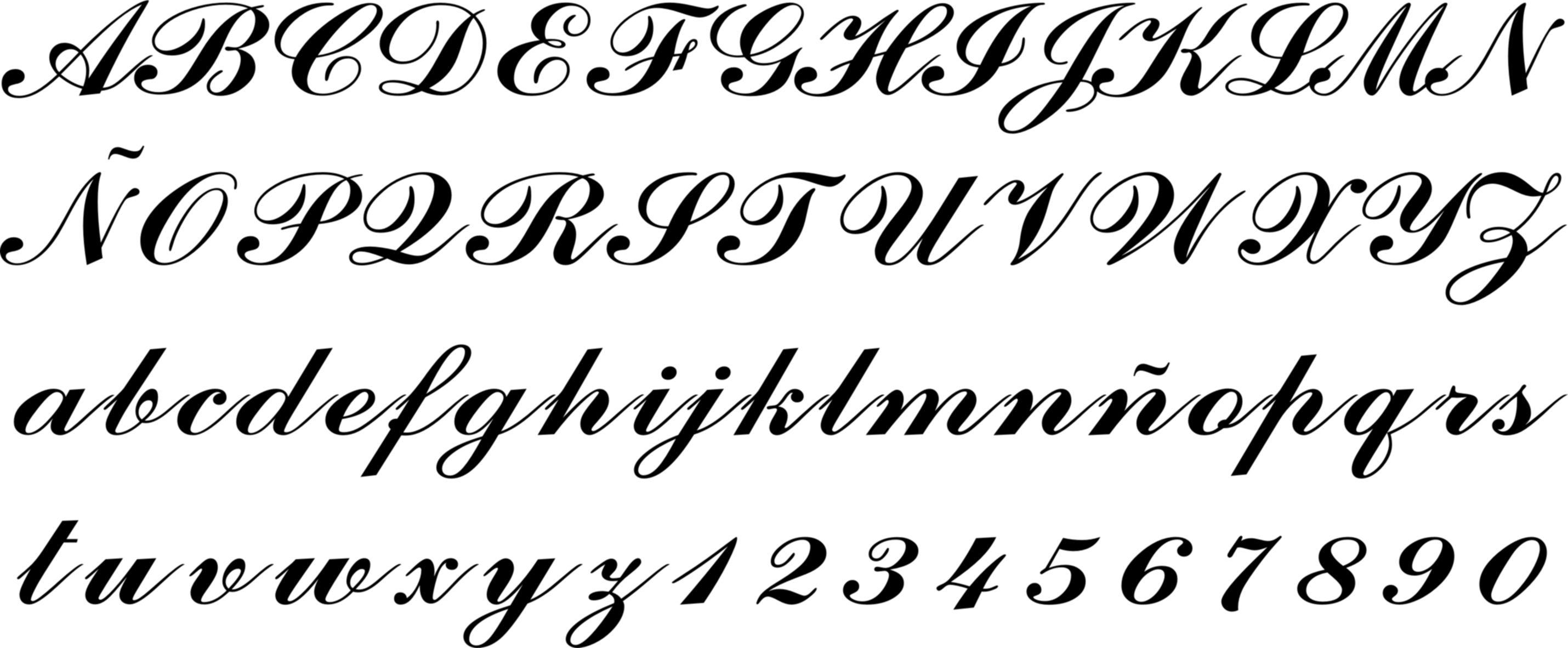 Misdibujosfavoritos Com Moldes De Letras Cursiva Tipos De Letras Letras Bonitas Para Tatuajes