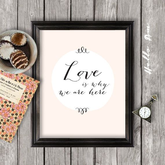 Love quote wall art- inspiration quote Wall decor, quote print ...