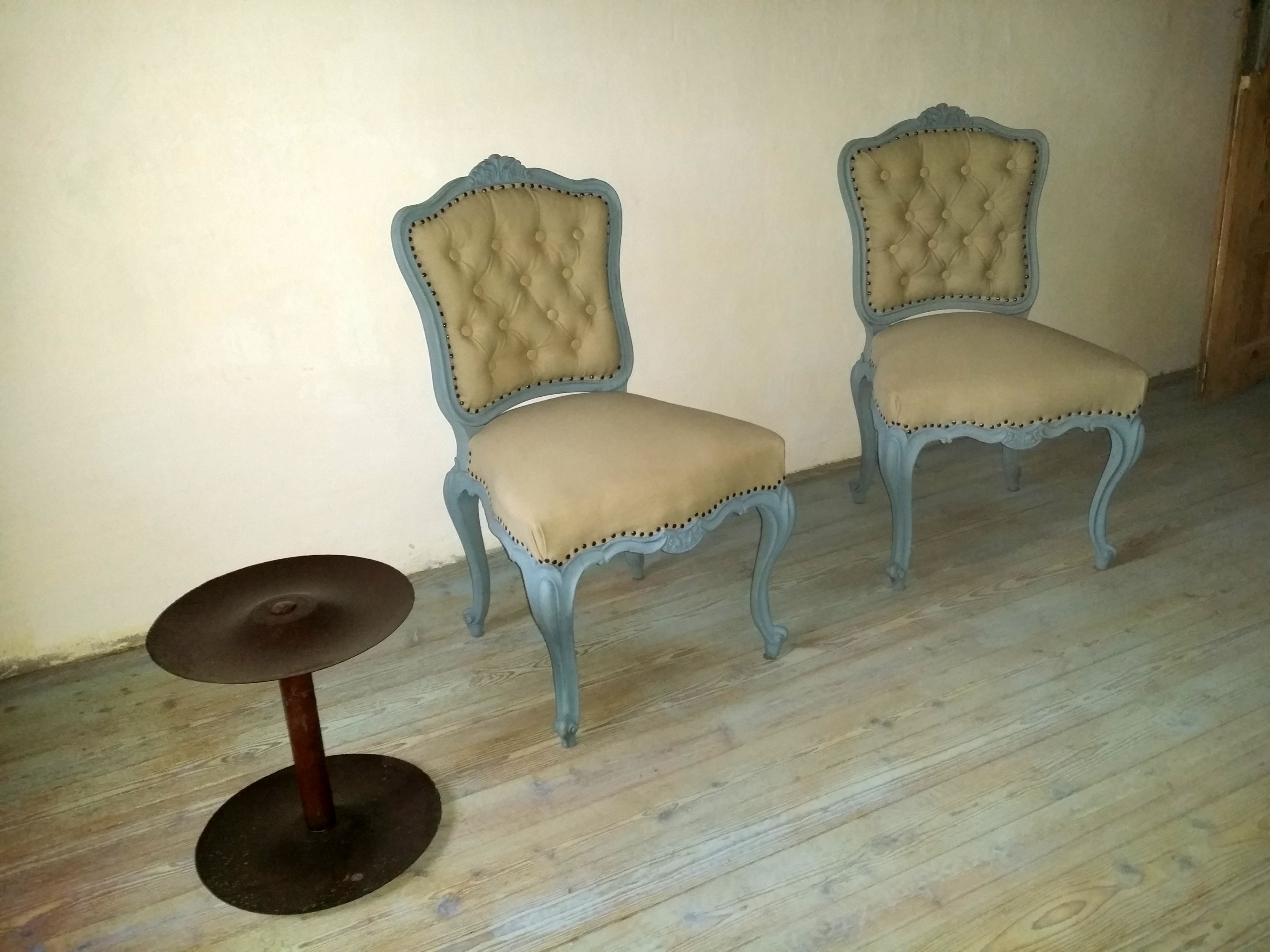 szék festése vintage stílusban