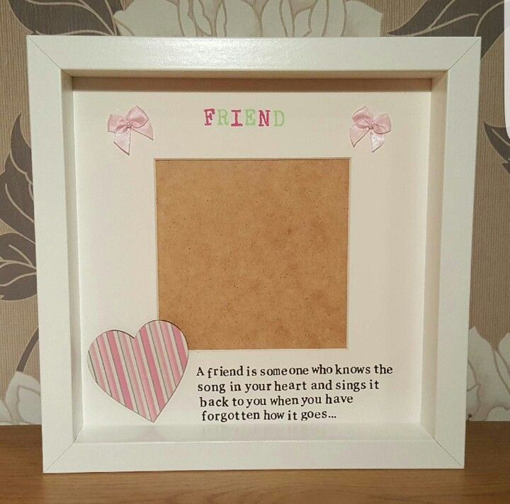 Friend Frame | Box Frames | Pinterest