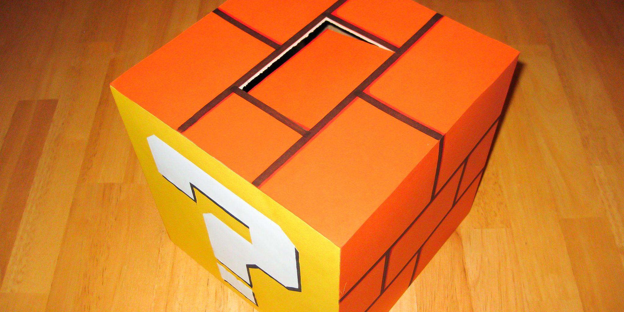 Mario Coin Block Valentine\'s Day Box   Valentine\'s Day   Pinterest ...