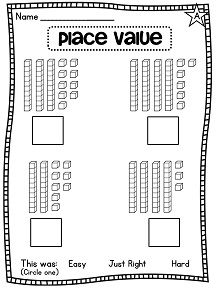 First Grade Math Unit  Place Value  Worksheets Math And School