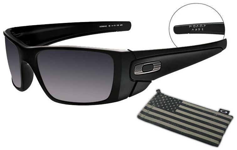 9cda8453e8e6 Oakley SI Fuel Cell Sunglasses with ΜΟΛΩΝ ΛΑΒΕ imprinted on inside of  temple arm.