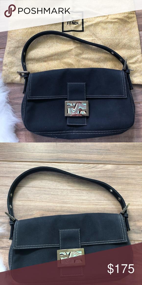 58980efbdc Vintage Denim Fendi Shoulder bag Gently used, but in great condition. Dust  bag included. Size: 11-5-1 Bags Shoulder Bags