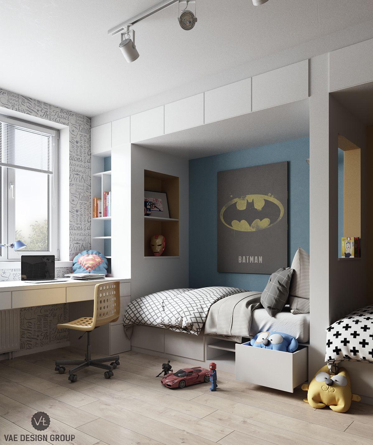 Superhelden Zimmer | Camerette, Camera ragazzi e Ragazzi