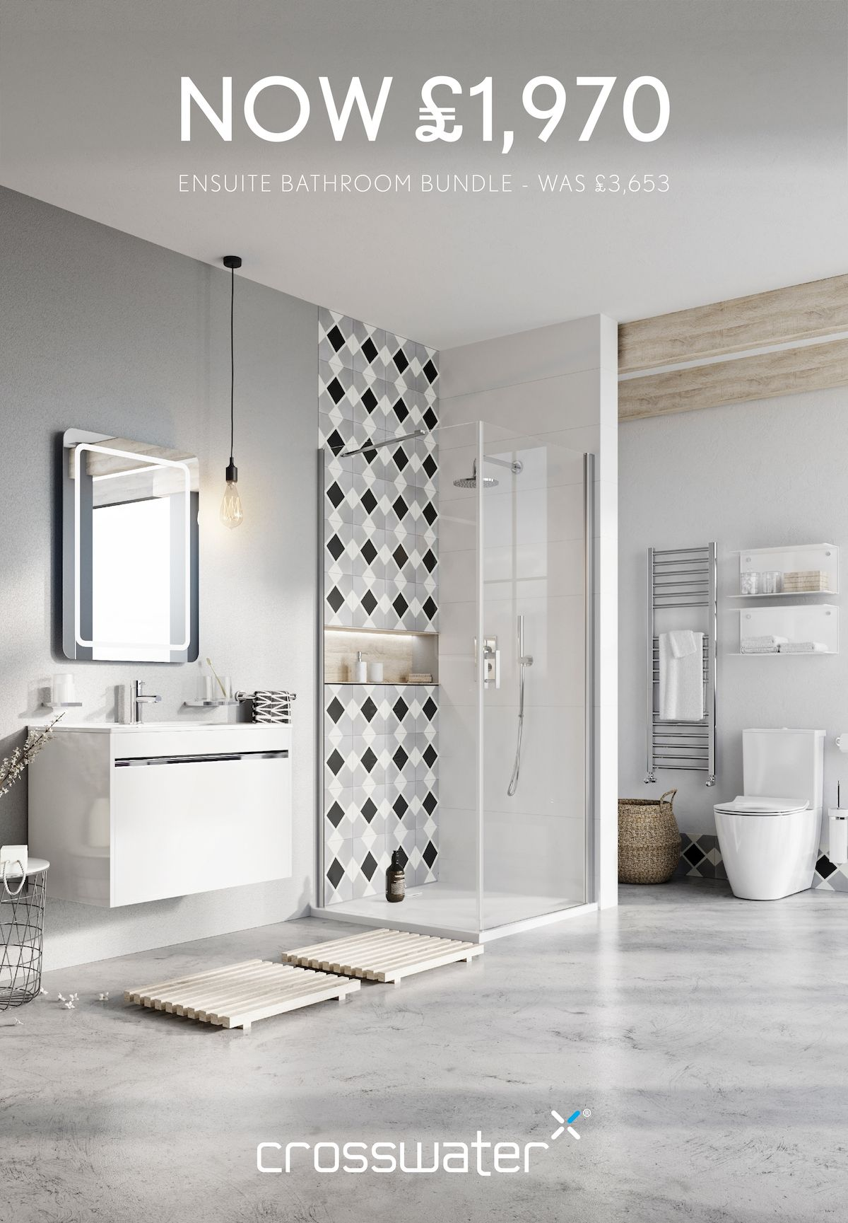 Get up to 60% off in our SUPER SALE. This ensuite bathroom bundle is ...