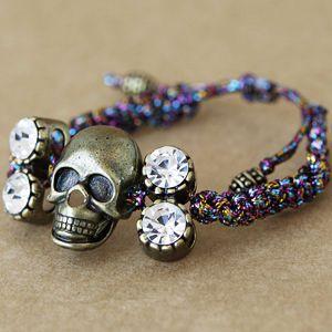 pulseira Nina,caveirinha,skull