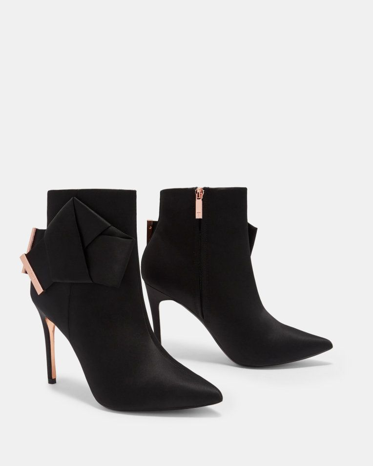 abebf33f2d1 Knotted bow satin ankle boots - Black   Shoes   Ted Baker   fashion ...