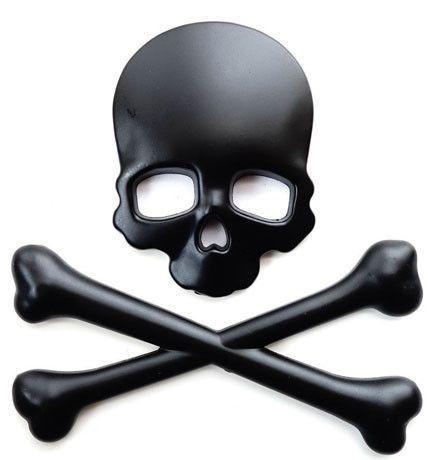Metal Skull Crossbones Motorcycle Car Sticker