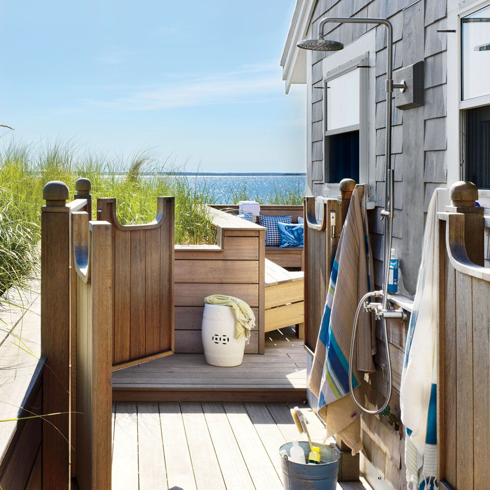 Ocean views, beachy details, and functional design elements make these open-air…