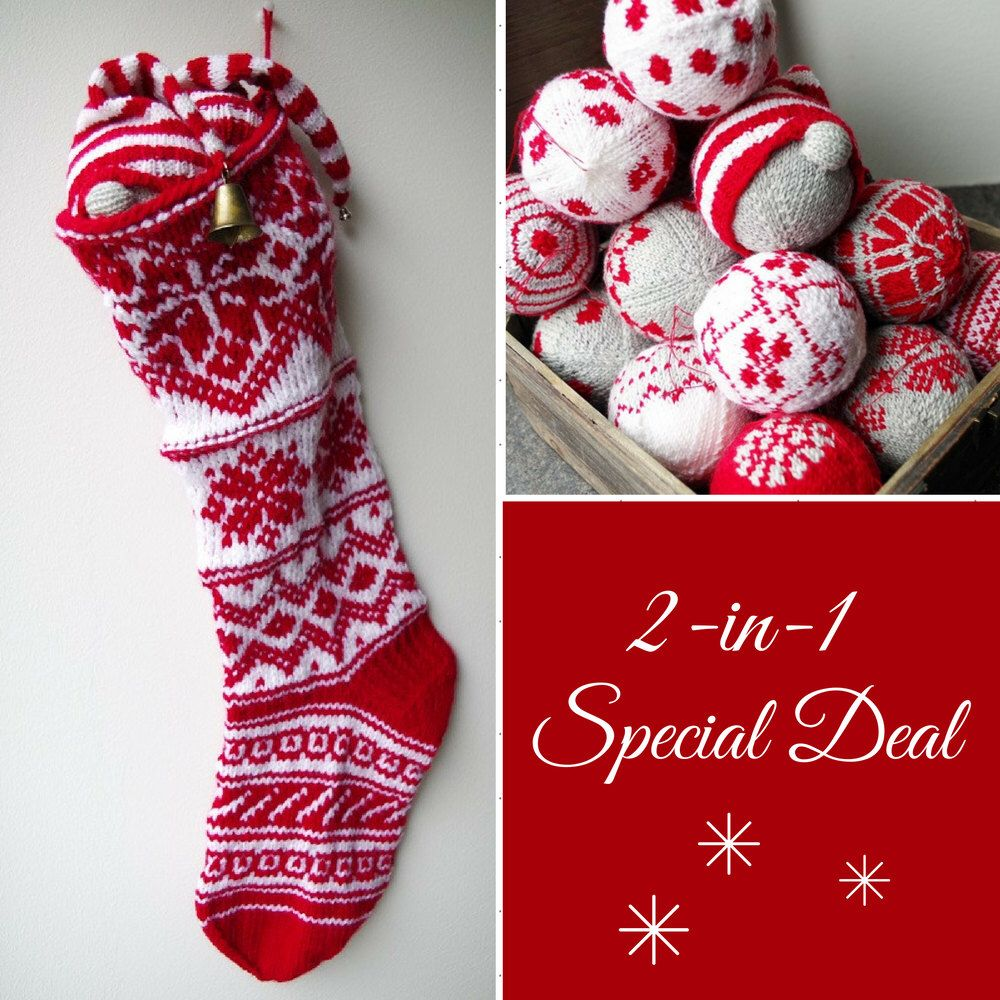 Christmas stocking knitting pattern free christmas bauble christmas stocking knitting pattern free christmas bauble ornament pattern booklet by patternduchess on etsy https strikmnstrefair islesfair isle bankloansurffo Choice Image