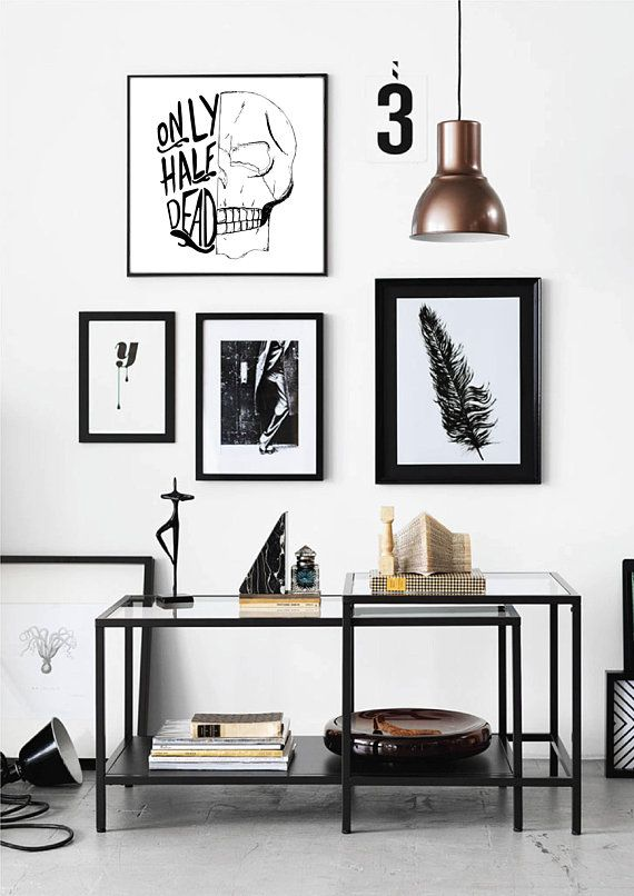 Skull Typography Art in 2018 Products Pinterest Home Decor