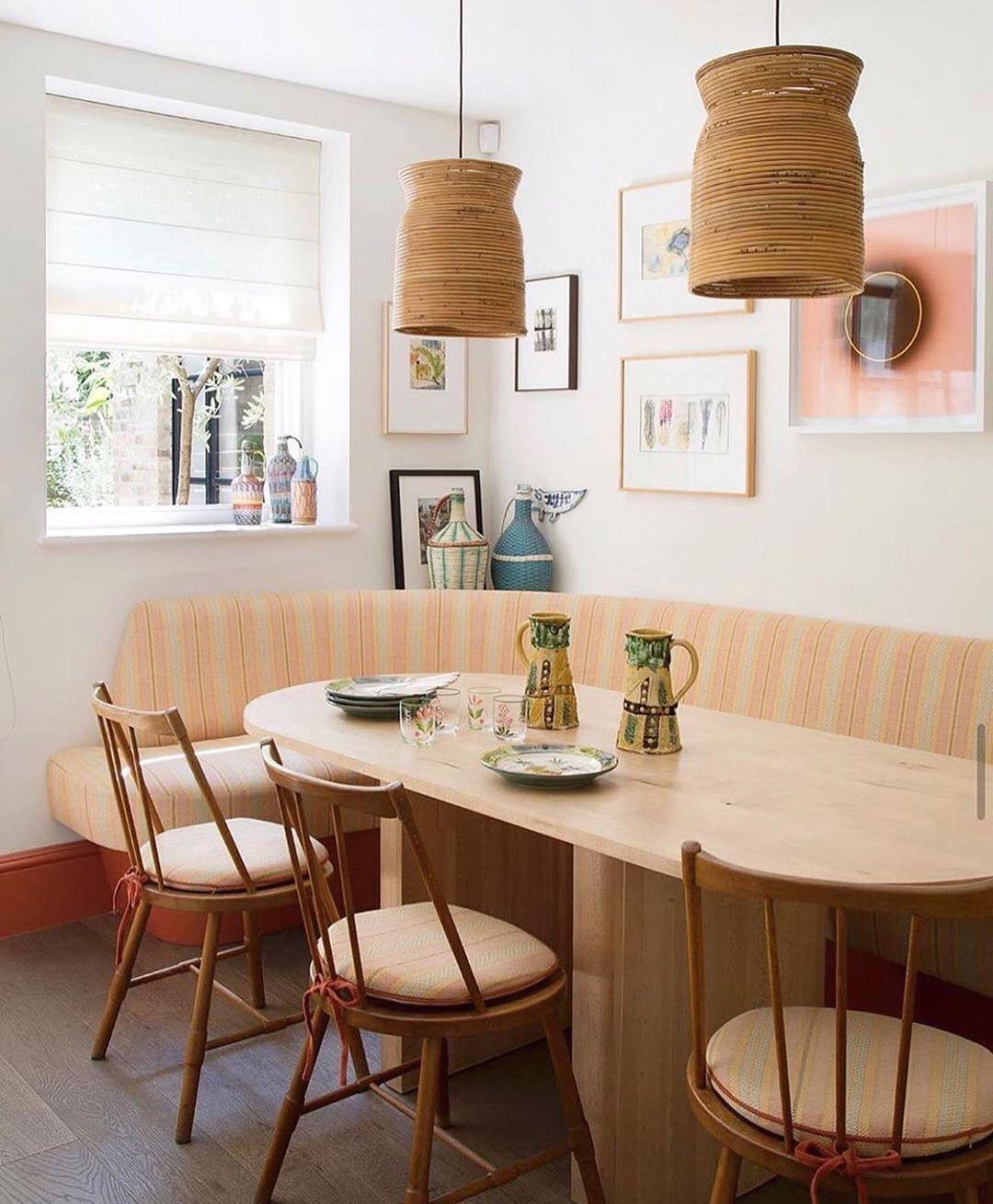 "COLOMBO HIRST on Instagram: ""Perfect breakfast nook 📰 ☕️@pierre.yovanovitch . . . . . #ColomboHirst #DesignIdeas #InteriorDetails #InteriorDecor #AmazingArchitecture…"""
