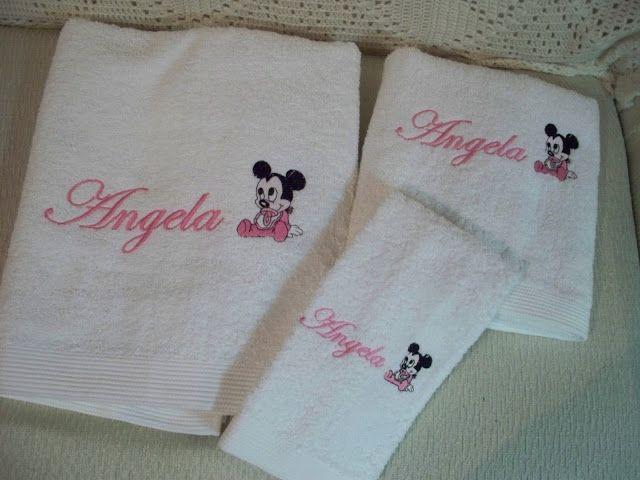 Entre agujas y canillas la mar de bordados toallas de - Toallas infantiles personalizadas ...