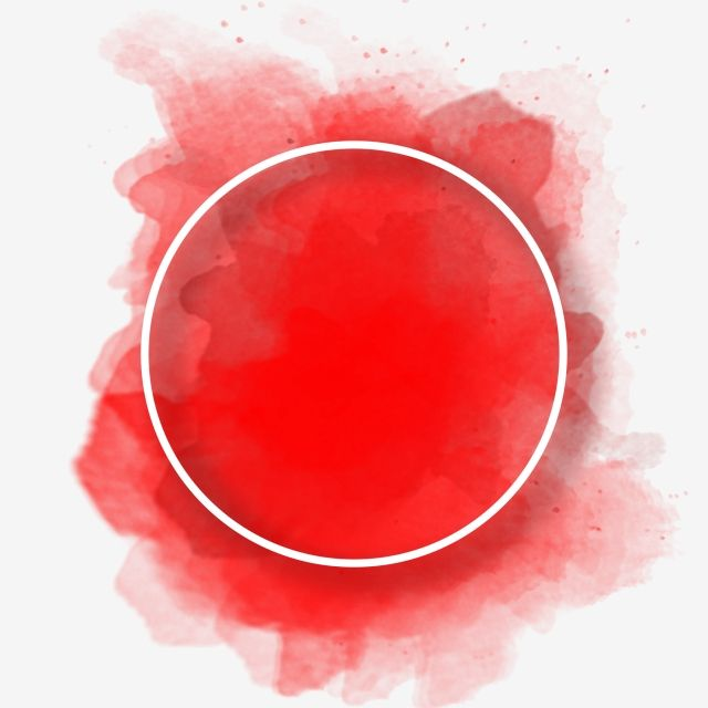 Round Frame With Red Watercolor Background Watercolor Background Watercolor Circles Circle Logo Design