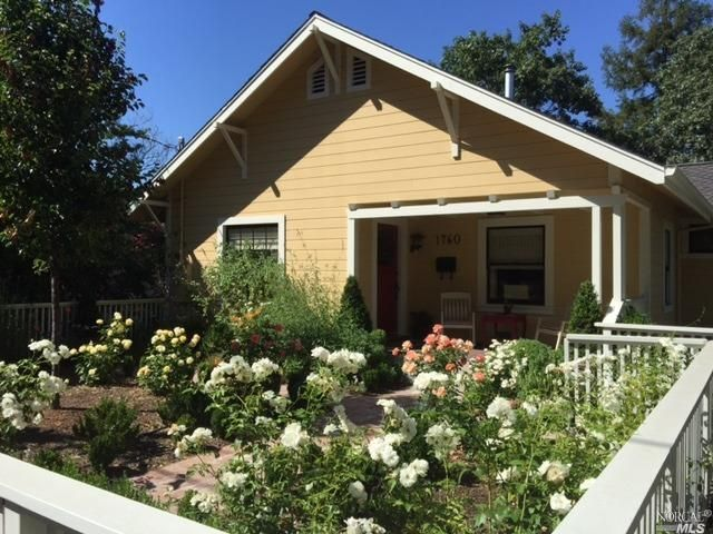 $995000 - 1760 Main St St. Helena CA 94574 This charming 1930's bungalow beautifully remodeled in 2014 is ideally located 3 blocks north of Saint Helena's quaint downtown 'Main Street' of coveted shops and restaurants. The inviting facade and bucolic gardens invite you into this cozy and intimate two-story haven. Add high ceilings a kitchen of yesteryear with modern day appliances a downstairs media room and a bright master opening to a rear ironwood deck overlooking redwood trees…