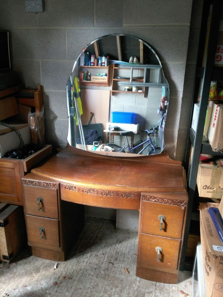 Art Deco Style Dressing Table With Mirror Dressing Table Mirror