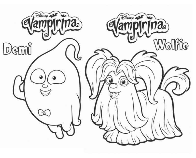 48+ Disney junior vampirina coloring pages ideas in 2021