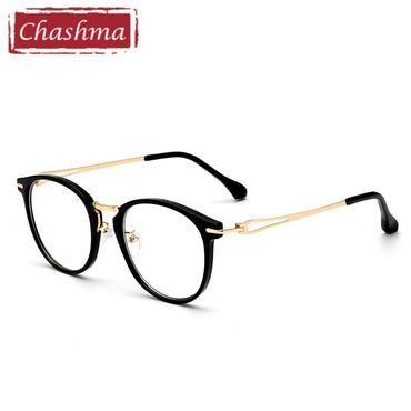 97768c1e802 Chashma Brand Stainless Round Frame armacao oculos de grau Quality Frames  Female Retro Eyeglasses Vintage Eye Glasses