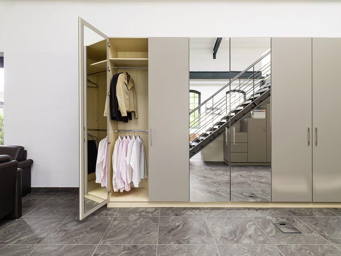 Schlafzimmer Spiegelschrank ~ Spiegelschrank in den dekoren platingrau und loire esche