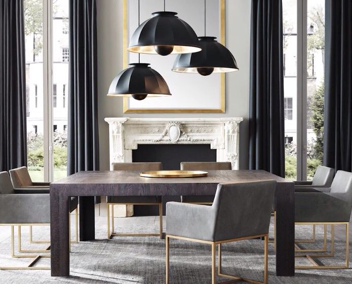 Restoration Hardware Modern Beautiful Dining Rooms Dining Room