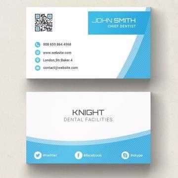 Dental Business Card Template Dental Business Cards Blue Business Card Cool Business Cards