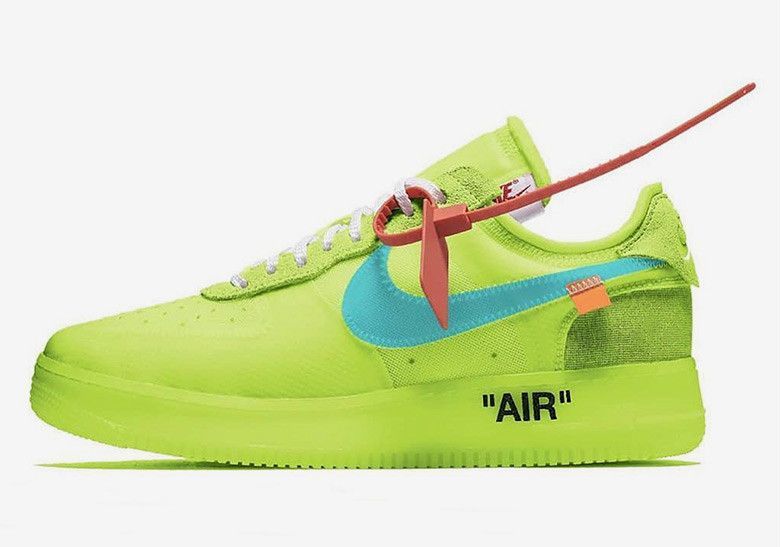 OFF WHITE x Nike Air Force 1 Volt First Look A04606 700