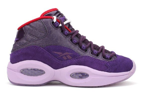 c4d0b8aeea2d5 Amazon.com: Reebok Question Mid Basketball Shoes - Purple Ink ...
