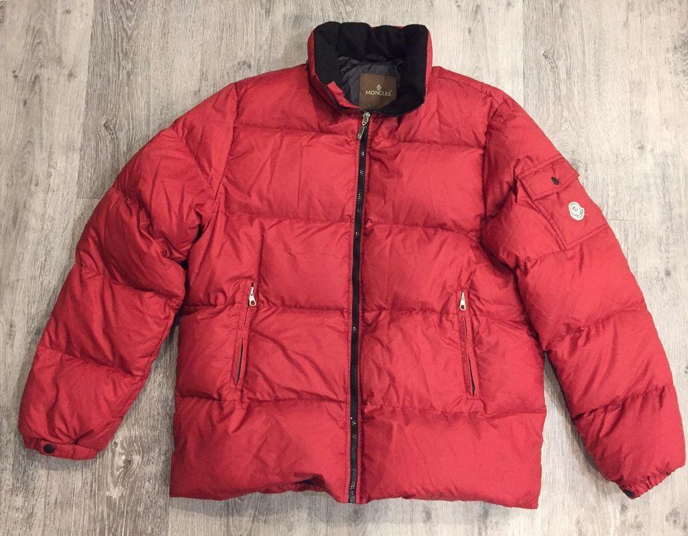 Men s Vintage Moncler Down Jacket Puffer Red Size 4 в 2018 г ... e2d3fc7c6d9
