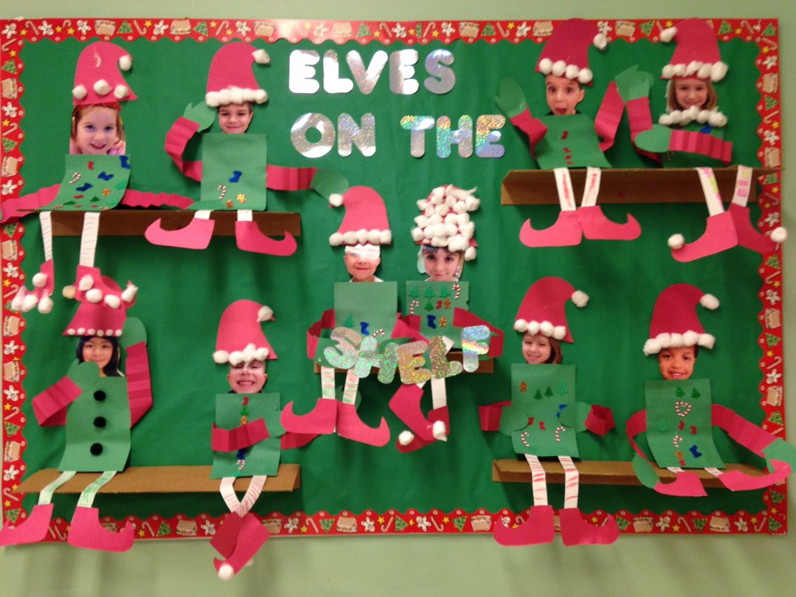 Christmas Classroom Decoration Printables : Elf on the shelf bulletin board christmas classroom