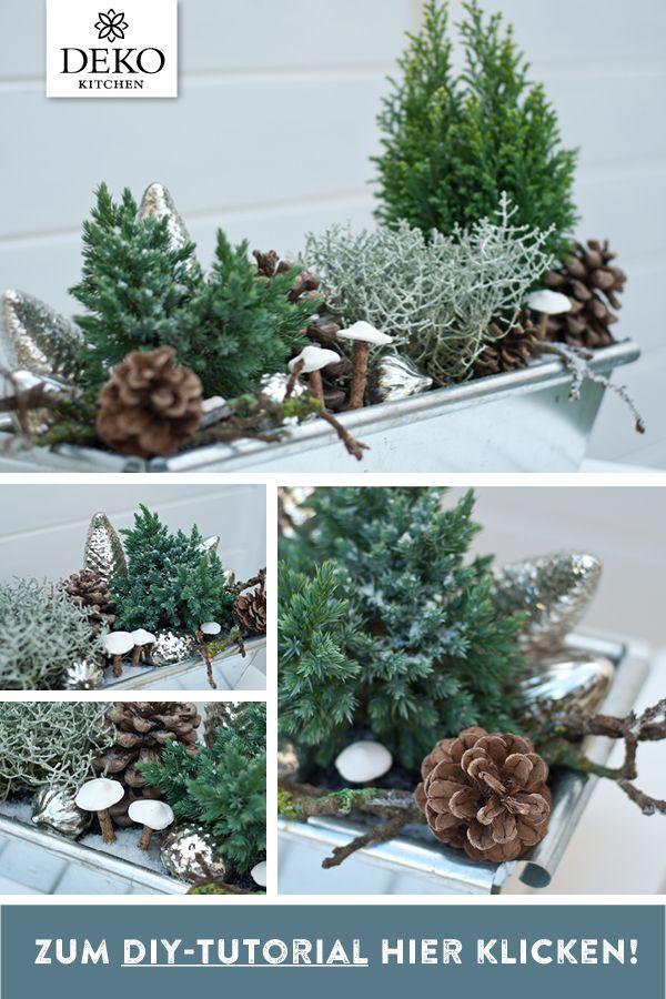 DIY-Winterdeko für den Blumenkasten zum Selbermachen! Diese hübsche Deko eigne…